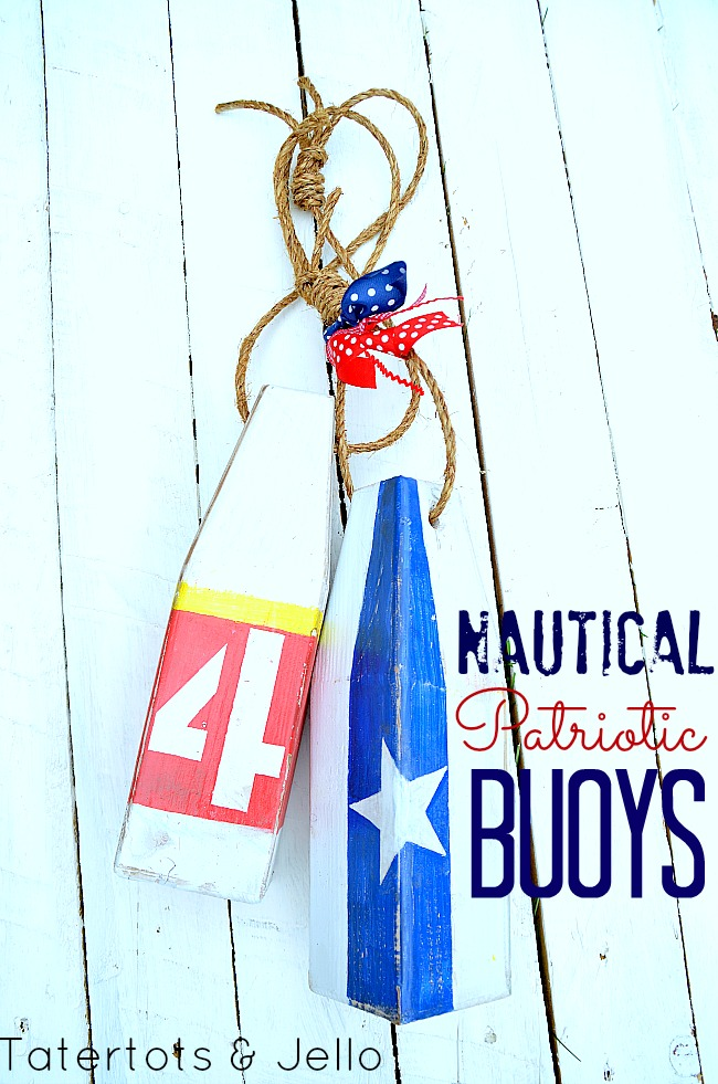 di nautical patriotic buoys at tatertots and Jello