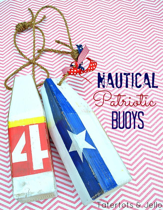 diy patriotic nautical buoys