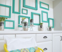 lowes pantone emerald frame project