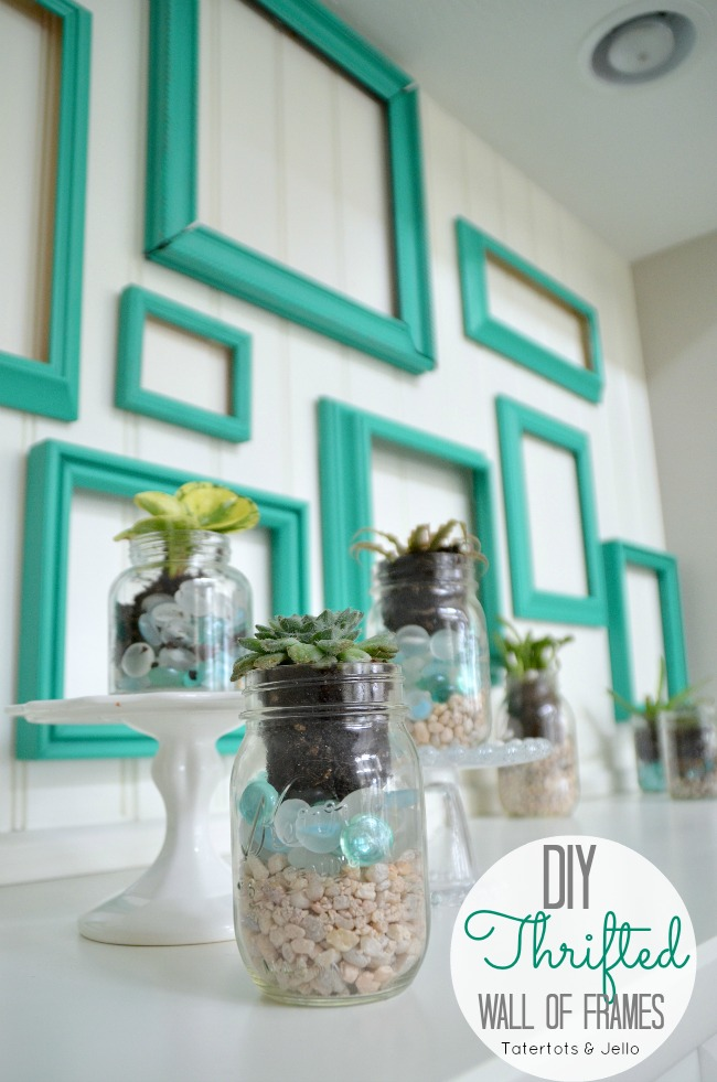 lowes pantone emerald green succulents and frames at Tatertots and Jello