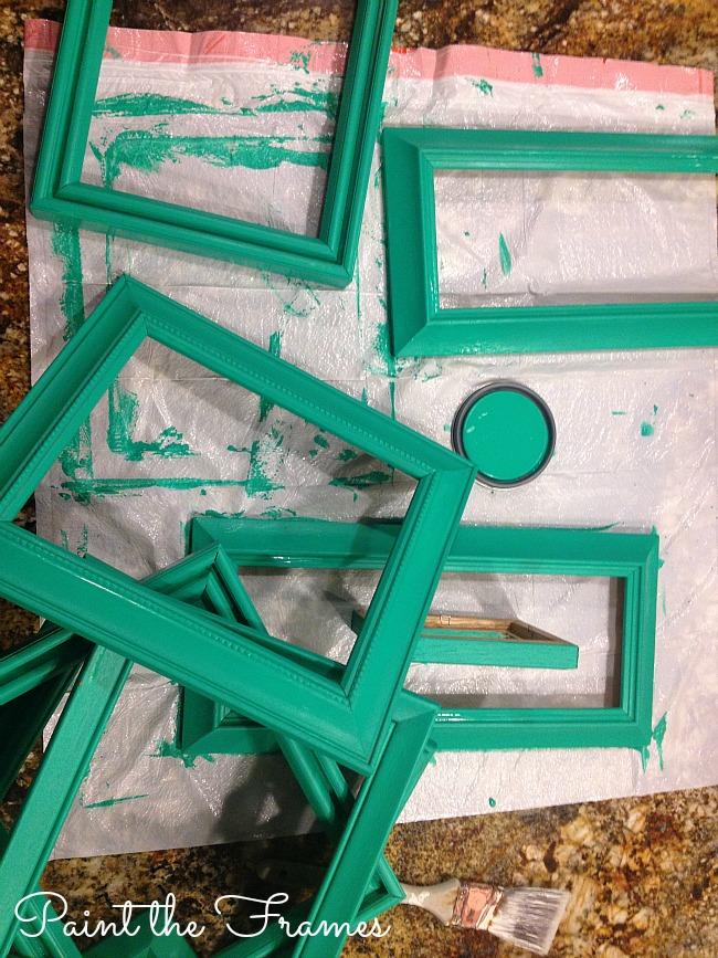 paint the frames