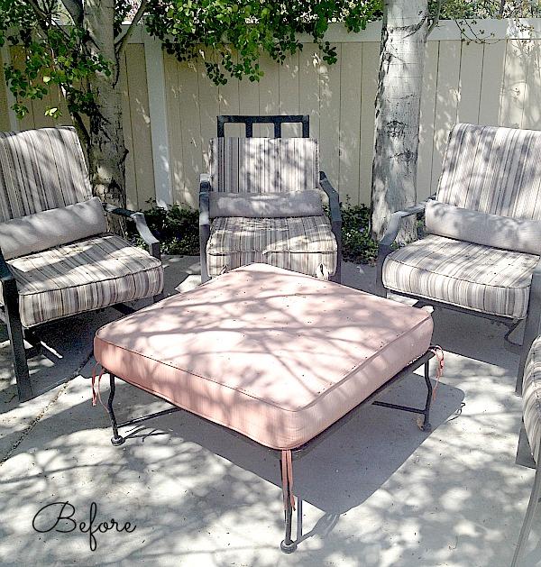 patio set before