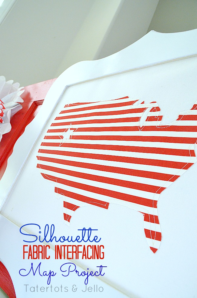 silhouette fabric interfacing map project at tatertots and jello