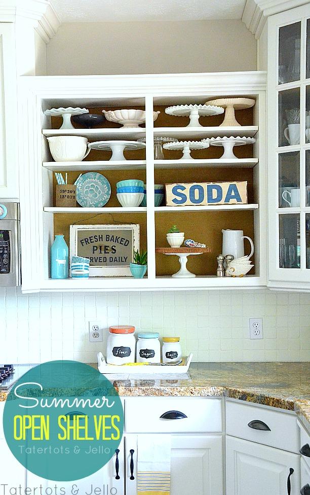 Summer Open Kitchen Shelves Tatertots And Jello