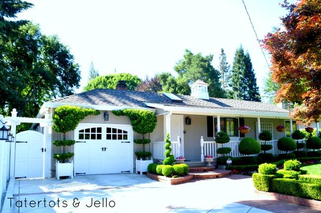 trellis and garage door idea