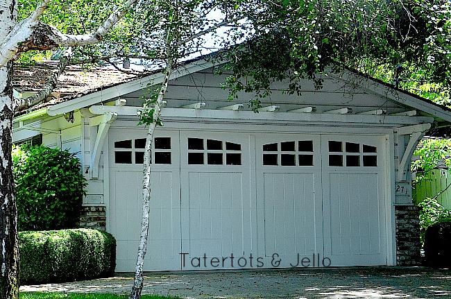 trellis over garage doors at tatertots & Jello