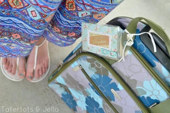 DIY Luggage Tags and free printables at tatertots and jello