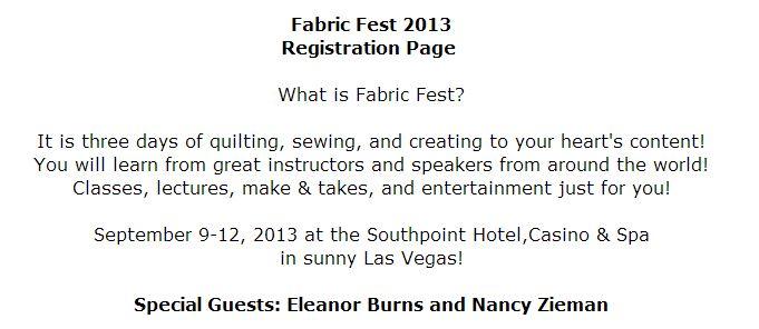 fabric fest information