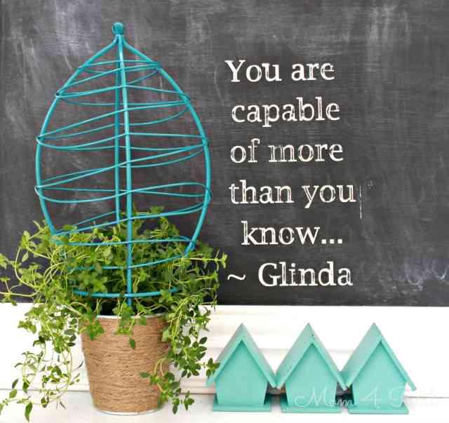 glinda planter and printable