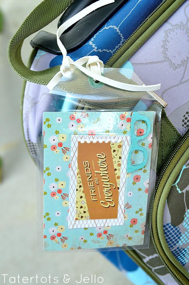 make luggage tags with your kids and free printable