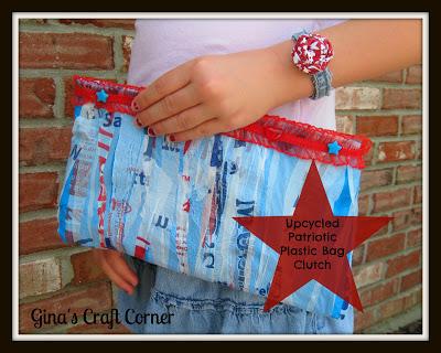 plastic bag clutch
