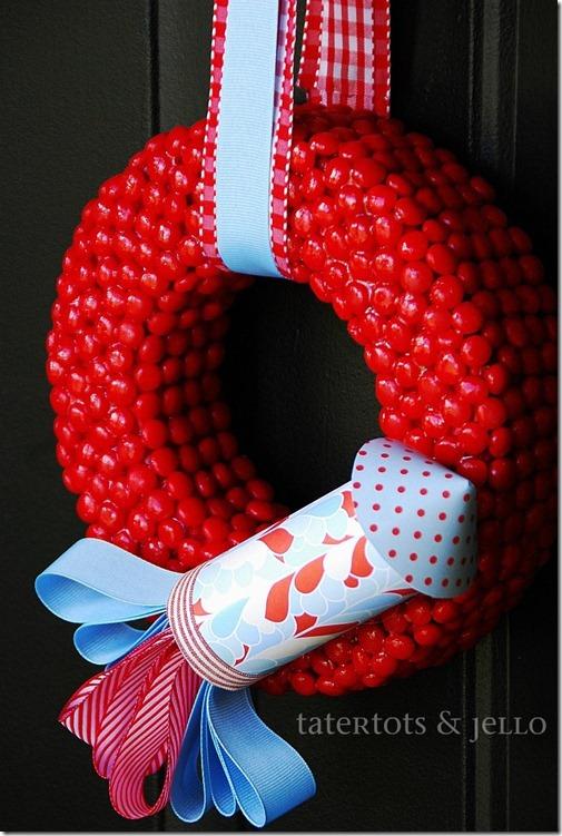 red hots rocket wreath