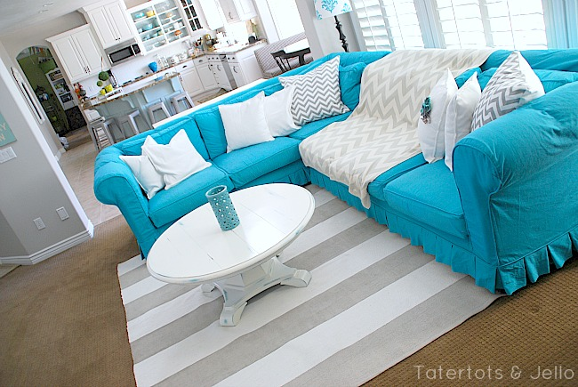 tatertots and jello turquoise slipcover