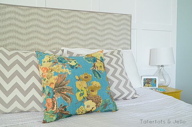 change up your bedroom with slipcovered headboard