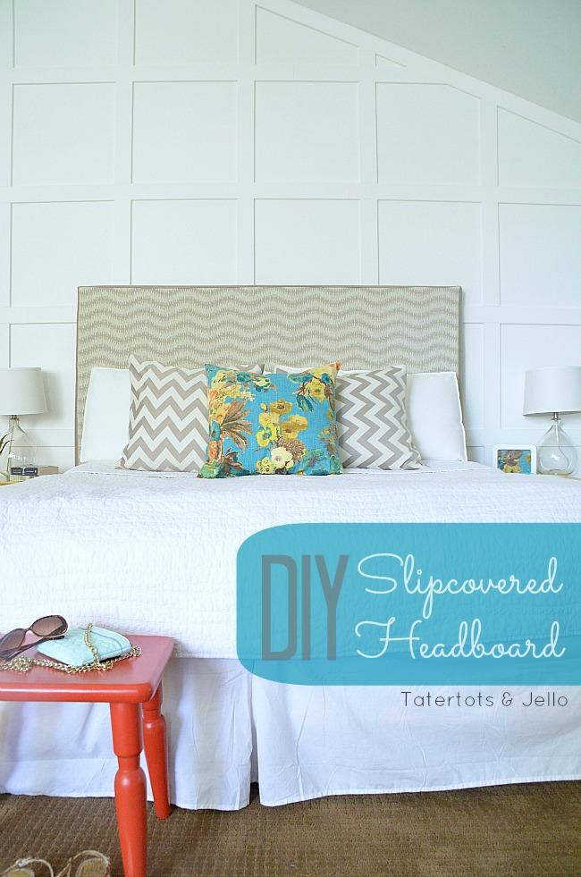 diy slipcovered headboard change up your room