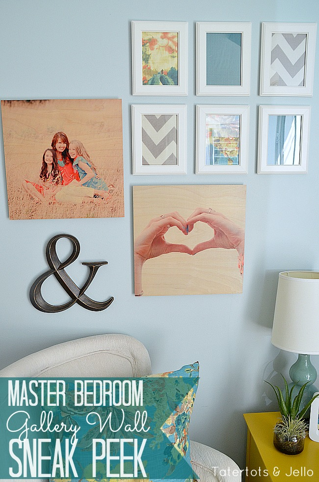 shutterfly wood wall art and master bedroom gallery wall sneak peek tatertots and jello. Black Bedroom Furniture Sets. Home Design Ideas