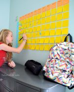 Back To School: Get Organized with an Easy School Planning Wall!