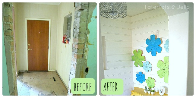 slotted walls before and after