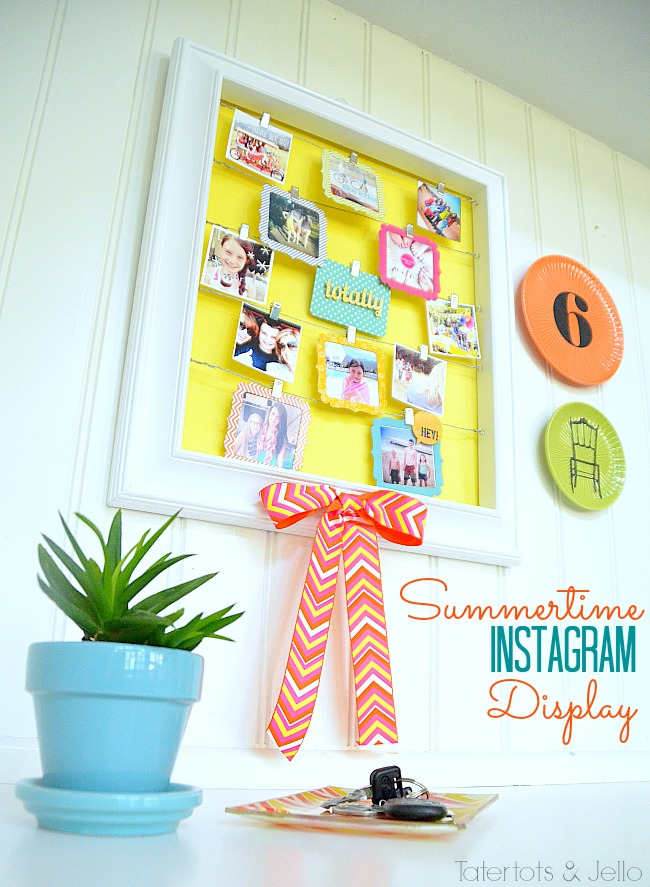 summertime instagram display wall at tatertots and jello