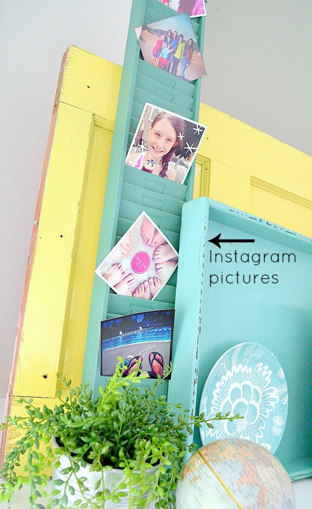way to display Instagram pictures on a mantel