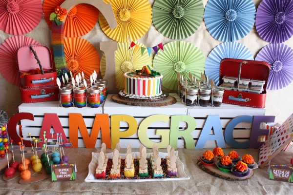 camp arts and crafts party