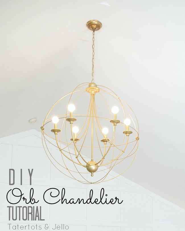 Ribbon Chandelier Diy: Make A DIY Knock-Off Orb Chandelier!! -- Tatertots And Jello