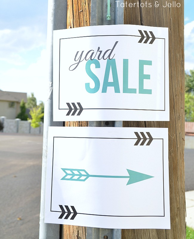 free yard sale sign printables at tatertots and jello