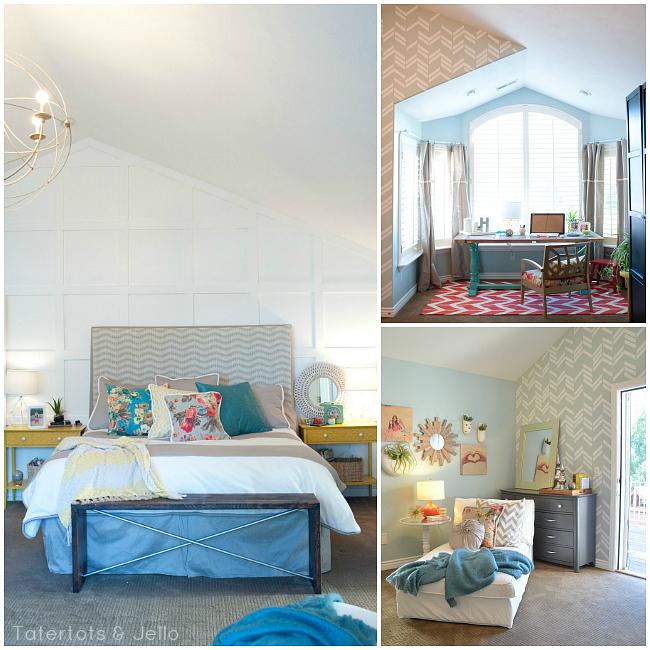 3o day challenge master bedroom makeover at Tatertots and Jello. #HGTVHomeMagic #homedecor #bedroom