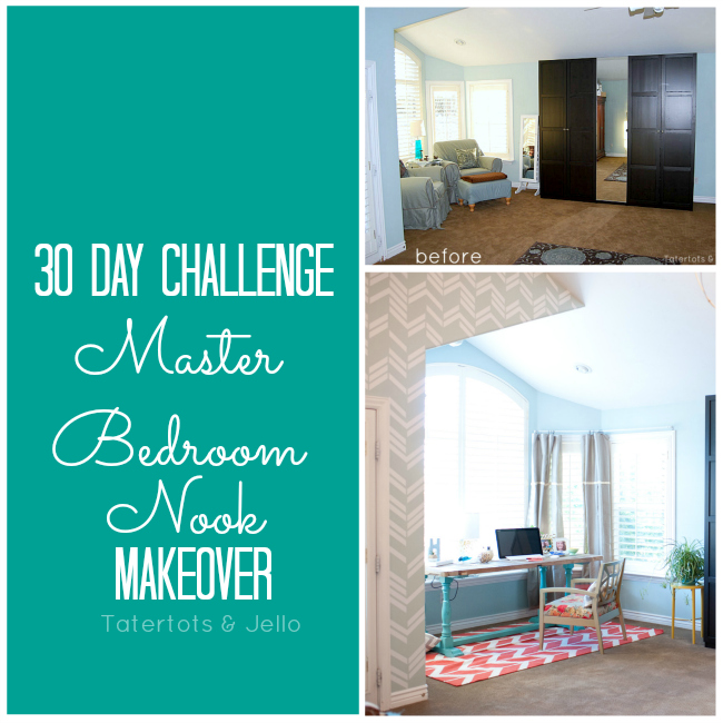 master bedroom office nook makeover at tatertots and jello