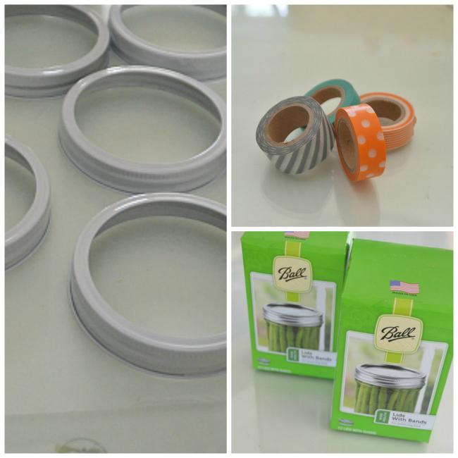 supplies for mason jar lid wreath