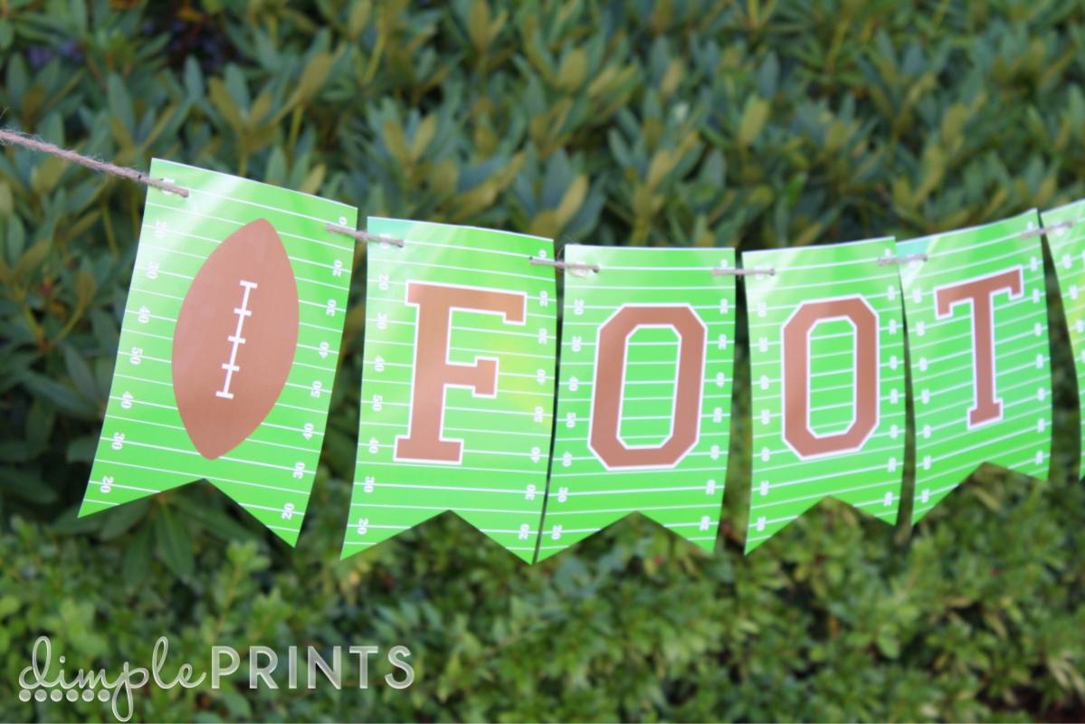 Free Printable Football Banner! - Tatertots and Jello