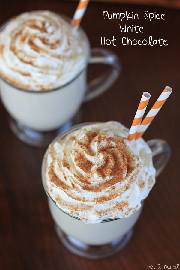 Pumpkin Spice White Hot Chocolate recipe for Fall