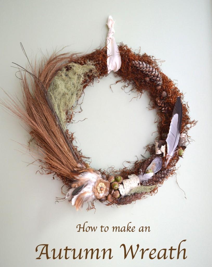 autumn feather wreath