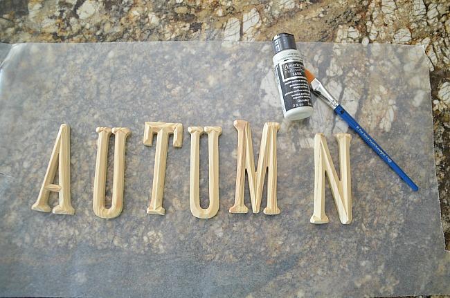 autumn letters for pumpkins