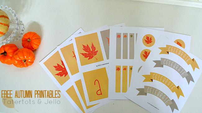 free autumn printables at tatertots and jello