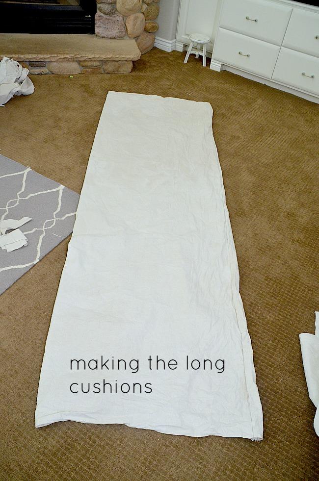 making the long cushions