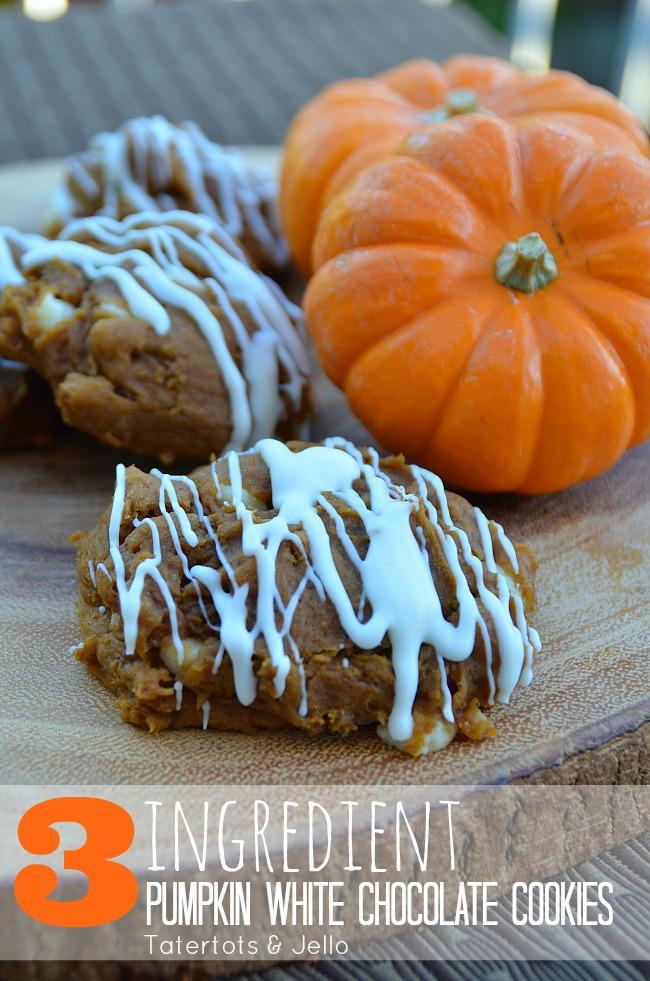 Three ingredient pumpkin cookies