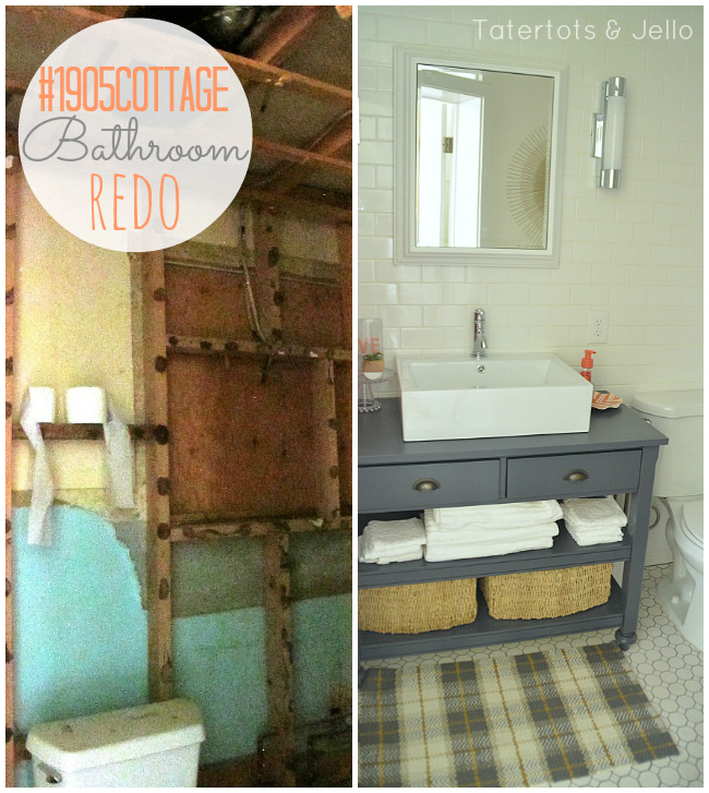 Best  Cottage Full Bathroom Renovation Reveal Tatertots and Jello
