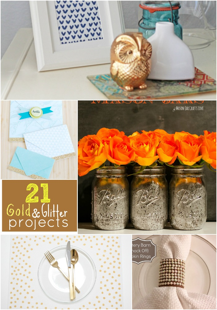Great Ideas 21 Gold And Glitter Projects Tatertots