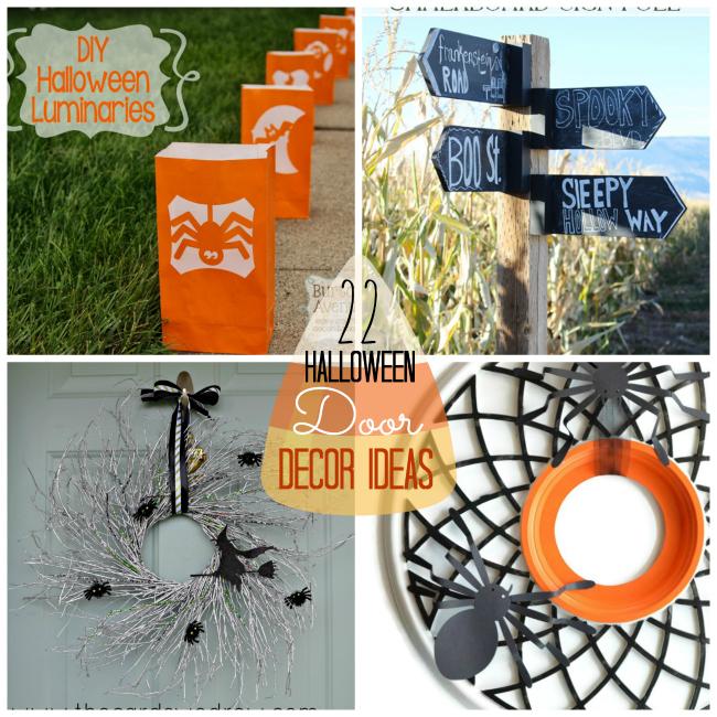 22 Halloween Door Decor Ideas at Tatertots and Jello