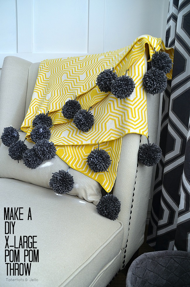 diy xlarge pom pom throw