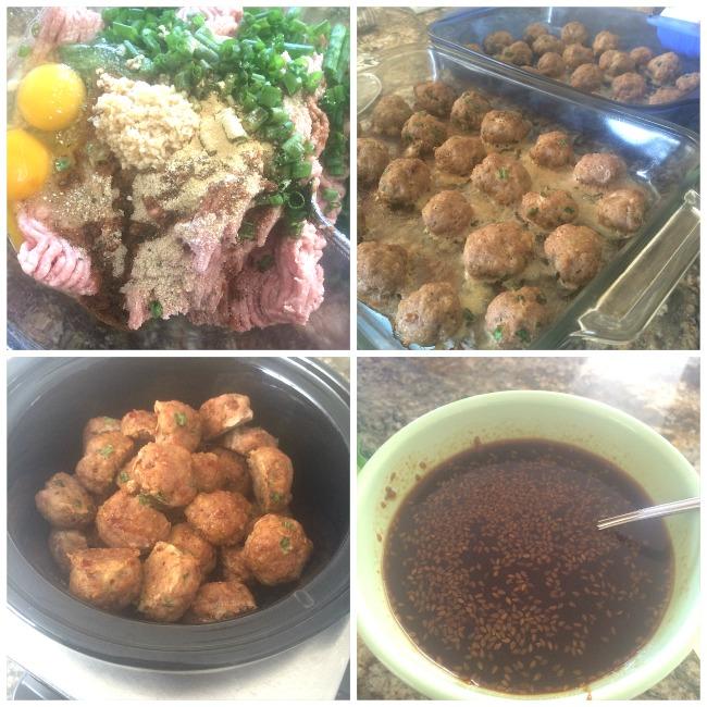 make asian turkey meatballs