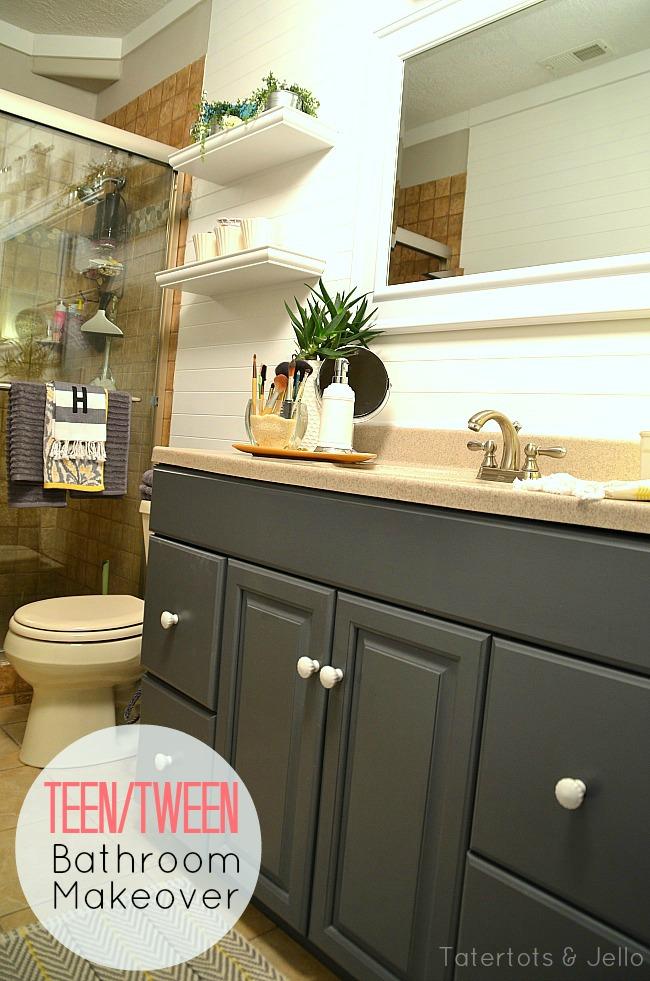 Tween/Tween Bathroom Redo   5 Ways To Create A Space YOUR Teen Will Love!    Tatertots And Jello