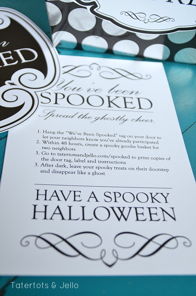 spooky halloween neighbor gift printables