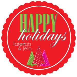 Happy Holidays projects and ideas featured on TatertotsAndJello.com
