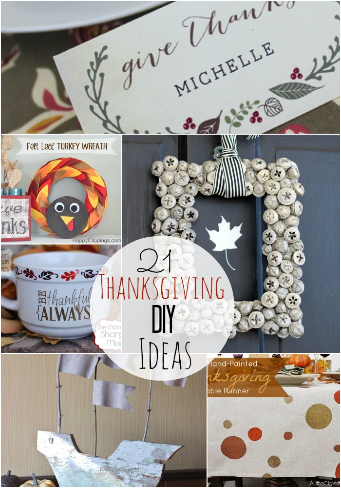 21 diy thanksgiving ideas