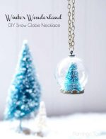 HAPPY Holidays: DIY Snow Globe Necklace!