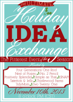 The Holiday Idea Exchange Pinterest Event — Tomorrow Night!!