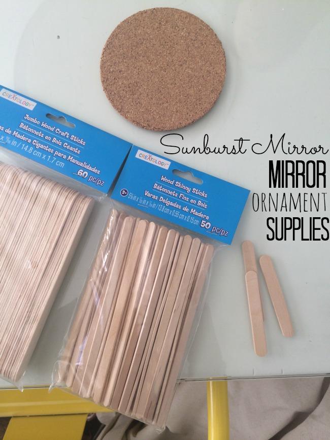 sunburst mirror ornament supplies