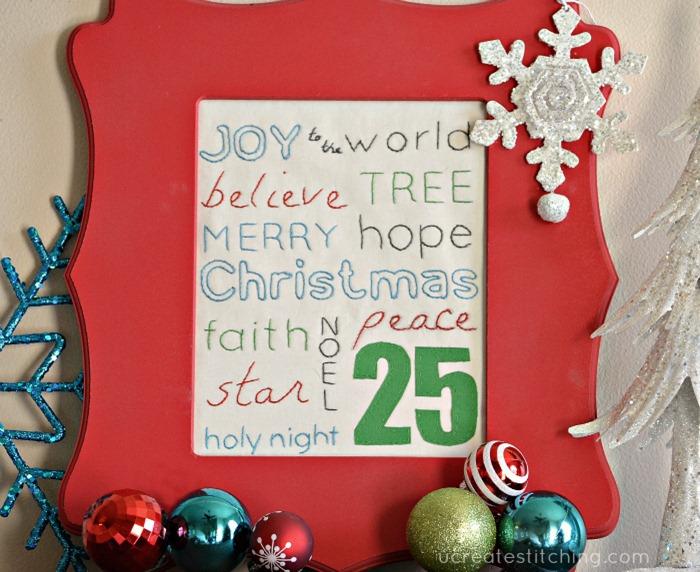Christmas Subway Art Stitching